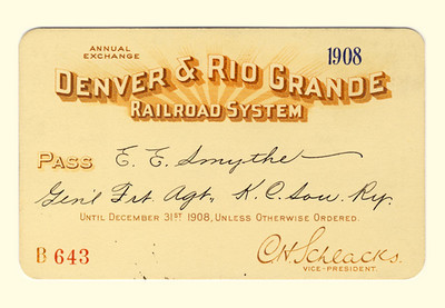 D&RG Railroad System 1908