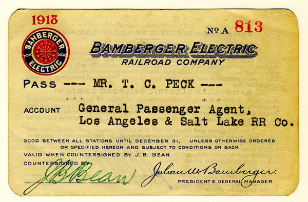 Bamberger Electric Railroad 1918
