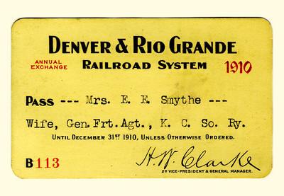 D&RG Railroad System 1910