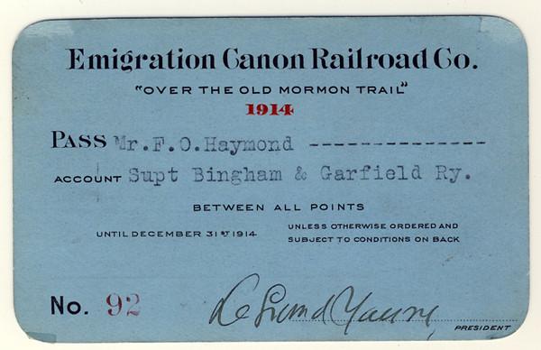 Railroad Annual Passes