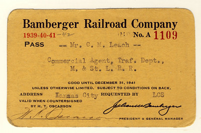 Bamberger Railroad 1939, 1940, 1941