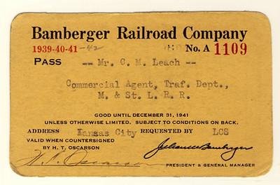 Bamberger Railroad 1939, 1940, 1941