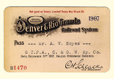 D&RG Railroad System 1907