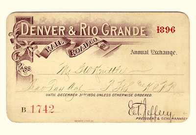 D&RG Railroad 1896
