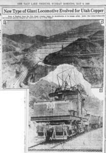 1928-05-06_Utah-Copper-electric-locomotives_Salt-Lake-Tribune-photo