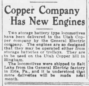 1928-09-16_Utah-Copper-electric-locomotives_Salt-Lake-Tribune