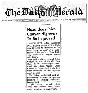 price-canyon-highway-detour_daily-herald_22-May-1961