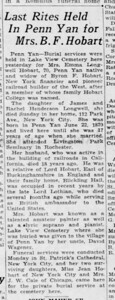 1941-05-12_Hobart-widow-dies_Democrat-and-Chronicle_Rochester-NY