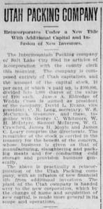 1908-04-28_Utah-Packing-Co-sold_Deseret-Evening-News