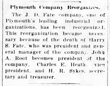 1918-06-15_J-D-Fate-Co-reorganized_Mansfield-Ohio-News-Journal