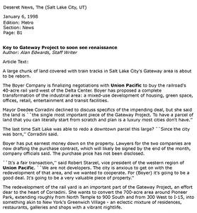 1998-01-06_UP_SLC_Depot_Boyer-Gateway-Center_Deseret-News_Page_1