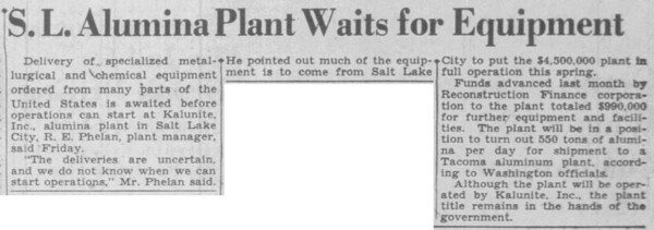 1943-03-13_Kalunite-nearing-completion_Salt-Lake-Tribune