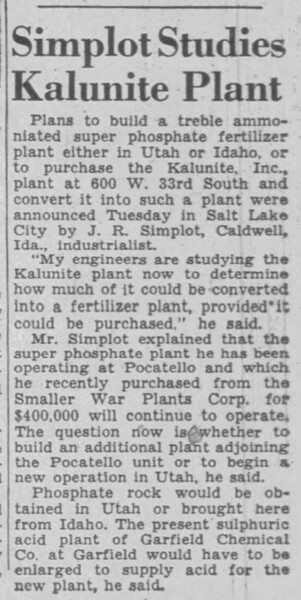 1946-04-03_Simplot-to-buy-Kalunite_Salt-Lake-Tribune