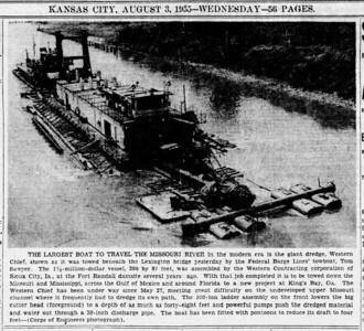 1955-08-03_Western-Contracting-Western-Chief-dredge_Kansas-City-Star