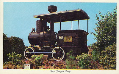 Oregon Pony at Portland Union Station, circa 1940 (Post Card)