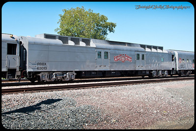 RBBX 63013, ex-UP 5780, July 2011; recently rebuilt as generator car. Christopher Walker Photo.