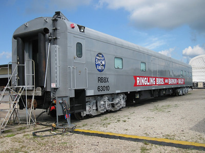 RBBX 63010, ex-UP 5770, rebuilt as new Pie Car in 2010