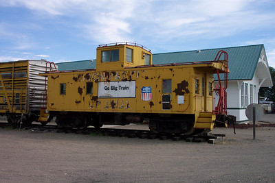 UP 25122, as Class CA-4 steel caboose; retired in March 1981; donated to Minidoka County Historical Society in October 1983; displayed at Minidoka County Museum, Rupert, Idaho.