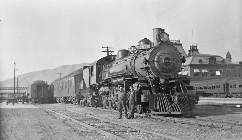 Salt-Lake-Route_4-6-2_3406_Train-7_Salt-Lake-City_no-date