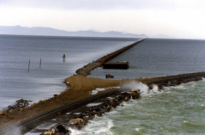 Bridge, curve to causeway, trestle is straight ahead