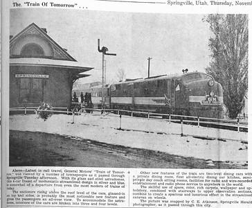 1947-11-13_GM-Train-of-Tomorrow_passing-springville_Salt-Lake-Telegram