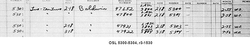 OSL 5300-5304, r3-1530