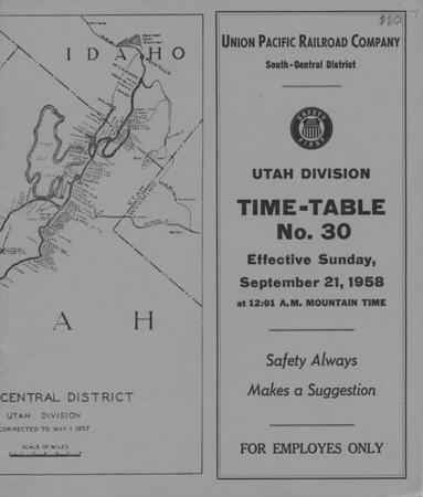 Union Pacific Timetables