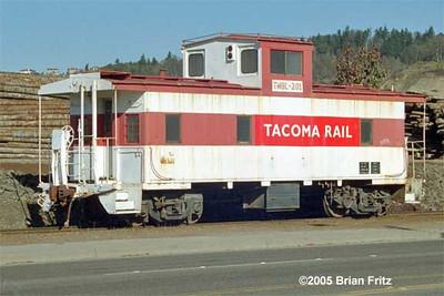 Tacoma Rail no. 201. February 2005. (Brian Fritz Photo)