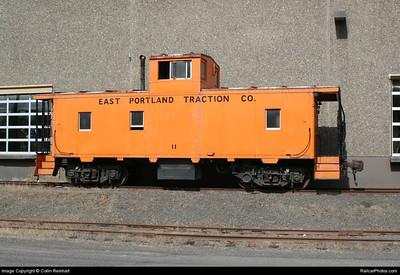 East Portland Traction Co. caboose no. 11, at Portland, Oregon. June 2009. (Collin Reinhart Photo)