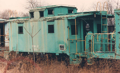 P&LE no. 531, showing that it is *not* one of the ex UP cabooses purchased by P&LE.