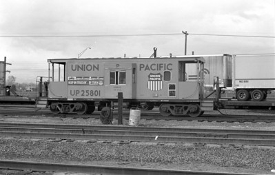 UP caboose 25801. April 23, 1983. (Don Strack Photo)