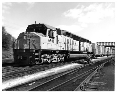 UP 6900, With Train. (Union Pacific Historical Collection)