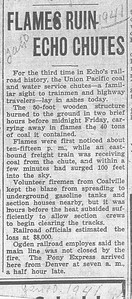 1941-01-10_UP-Echo-coal-chute-fire_Newpaper