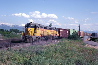 UP GP30 826 and 824. Clearfield, Utah. June 1983. (Don Strack Photo)