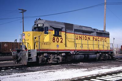 UP GP30 802. Ogden, Utah, November 1986. (Don Strack Photo)