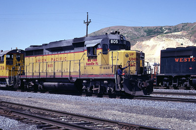 UP GP30 805. Salt Lake City, June 1983. (Don Strack Photo)