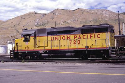UP GP30 720. Salt Lake City, July 1986. (Warren Johnson Photo)