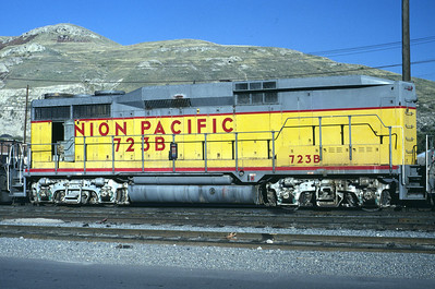 UP GP30B 723B. Salt Lake City, November 1986. (Warren Johnson Photo)