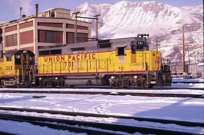 UP GP30 701. Salt Lake City, February 1985. (Don Strack Photo)