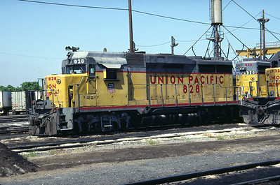 UP GP30 828. Stockton, California, September 1983. (Don Strack Photo)