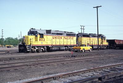 UP GP30 802. Ogden, May 1986. (Don Strack Photo)