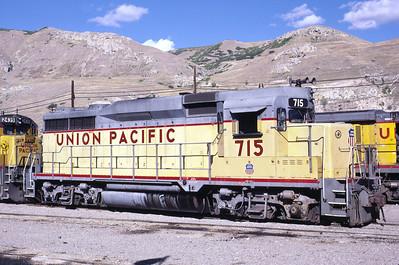 UP GP30 715. Salt Lake City, October 1985. (Warren Johnson Photo)