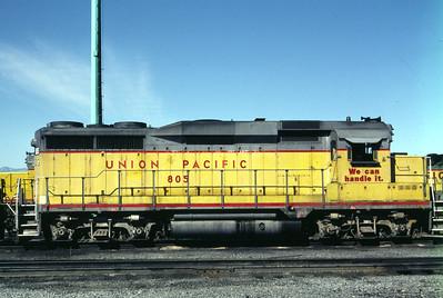 UP GP30 805. Salt Lake City, July 1986. (Don Strack Photo)