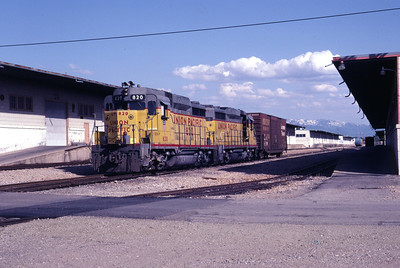 UP GP30 820 and 817. Clearfield, Utah, June 1983. (Don Strack Photo)