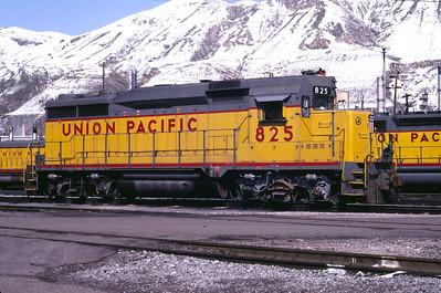 UP GP30 825. Salt Lake City, March 1983. (Don Strack Photo)