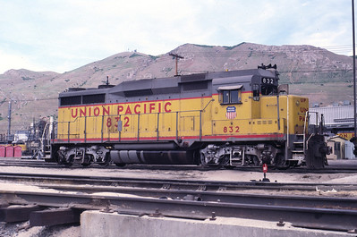 UP GP30 832. Salt Lake City, June 1987. (Warren Johnson Photo)