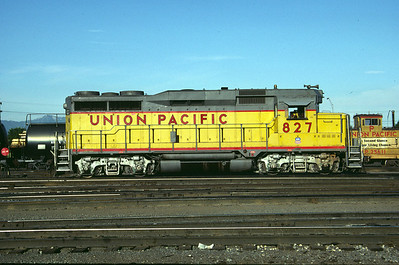 UP GP30 827. Salt Lake City, July 1984. (Don Strack Photo)