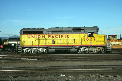 UP GP30 827. Salt Lake City, July 1984. (Don Strack Photo)