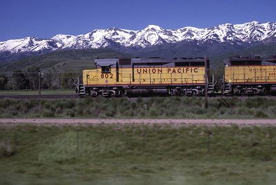 UP GP30 802 on the Park City Local, near Stoddard, Utah. July 1985. (Blair Kooistra Photo)