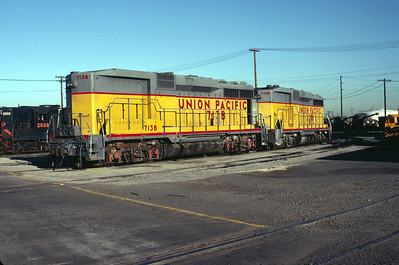 UP GP30Bs 713B and 728B. Salt Lake City, September 1983. (Warren Johnson Photo)